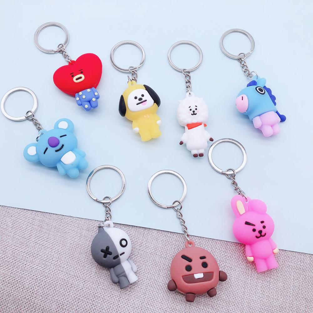 Cute Cartoon Doll Keychain Bags Chain For Women Men Personalized DIY Charm Characters Accessories Creative Jewelry
