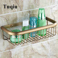 浴室の棚ウォールマウント収納バスケットホルダー真鍮コーナー棚浴室ホルダー石鹸ホルダーラック浴室付属品