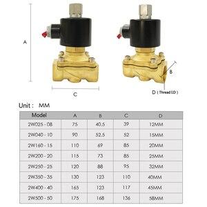 """Image 4 - 1/4 """"3/8"""" 1/2 """"3/4"""" 1 """"Valvola Solenoide elettrico DN08 DN10 DN15 DN20 DN25 normalmente aperto olio di Acqua pneumatico Aria 12V/24V/110V/220V"""
