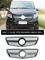 For Mercedes Benz for VITO Diamond Racing Grille W447 for VITO GT Front Bumper Grille 2015 2019