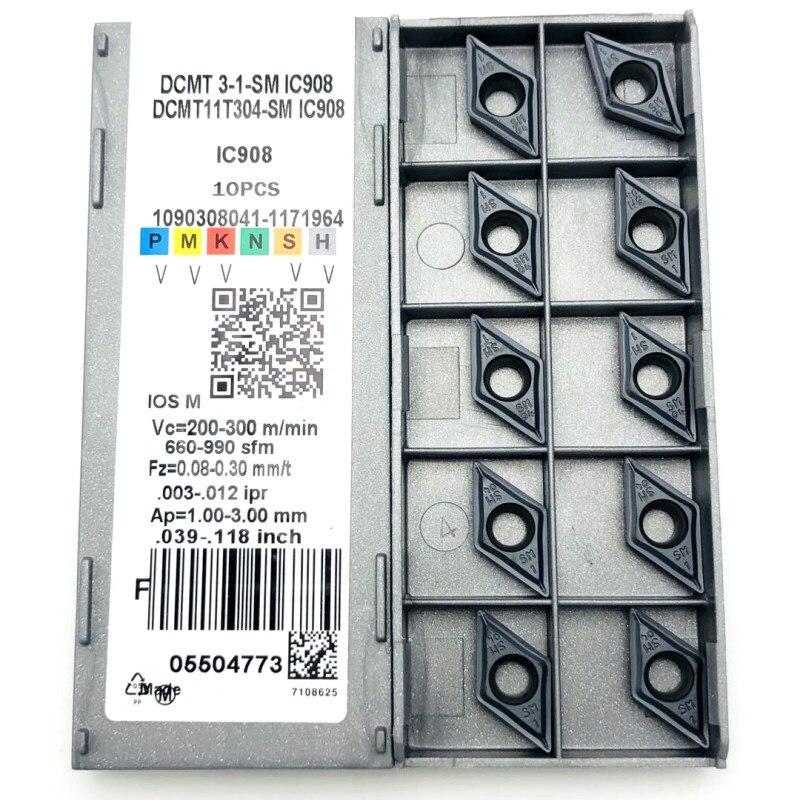 Токарный инструмент DCMT11T304 DCMT11T308 SM IC907 IC908, твердосплавная пластина dcmt 11t304, токарный инструмент, токарный станок