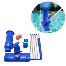 Piscina conjunto de aspirador de pó piscina spa lagoa mini jet aspirador de pó piscina conjunto com escova e saco 4ft pólo 30