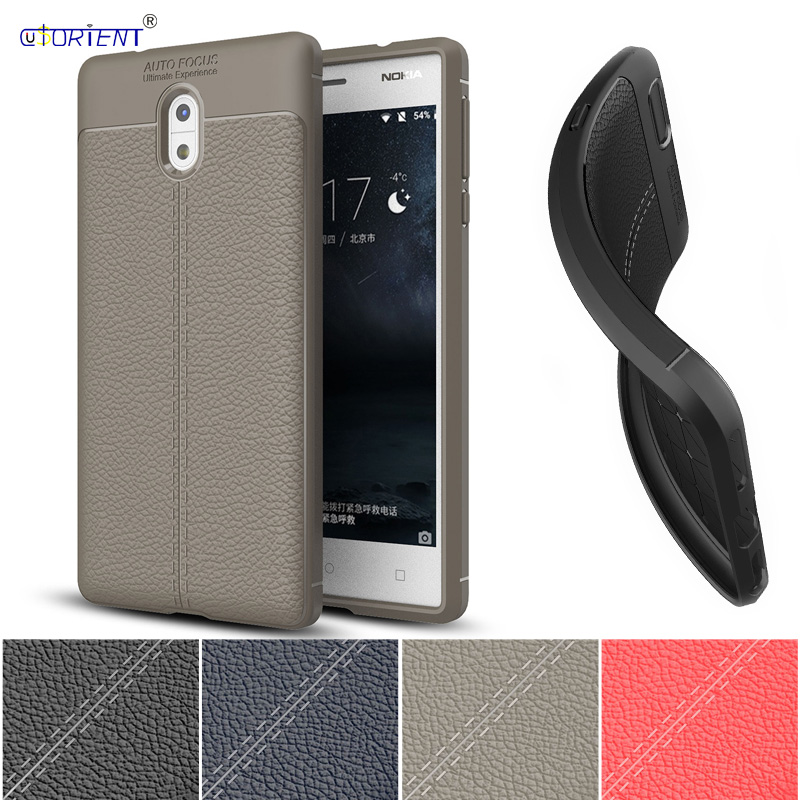 PU Silicone Phone <font><b>Case</b></font> for <font><b>Nokia</b></font> <font><b>3</b></font> TA-<font><b>1032</b></font> TA-1020 Fitted <font><b>Case</b></font> Soft TPU Back Cover for Nokia3 TA <font><b>1032</b></font> 1020 Business Bumper <font><b>Cases</b></font> image