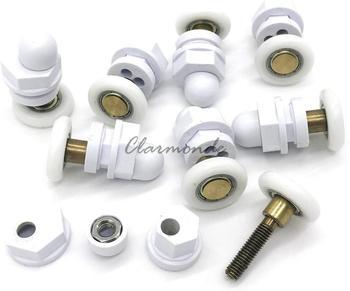 8 x kabina prysznicowa koła zębate do rolek 19mm 23mm 25mm i 27mm tanie i dobre opinie Clarmonde Szkło CY-301-12 Diament typu Brak w zestawie ROUND Drzwi przesuwne Wody zachowując bar Kabiny prysznicowe Z ramą
