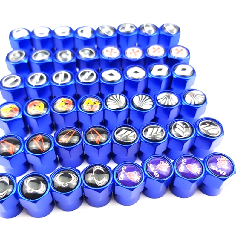 Blue High Quality New Theftproof Metal Car Wheel Tires Valves Tyre Stem Air Caps Airtight Cover Hot Selling Car Accessories