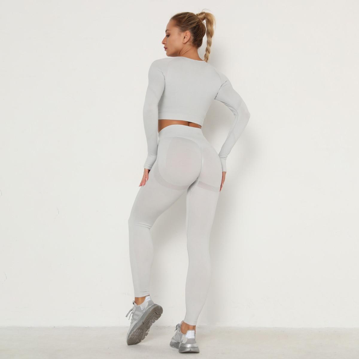 Women High Wais Leggings and Top Yoga Set