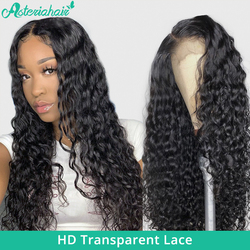 Asteria-Peluca de cabello ondulado de 5x5 HD para mujer, postizo de encaje transparente con cierre, pelo Remy brasileño con densidad de 150% y 180%