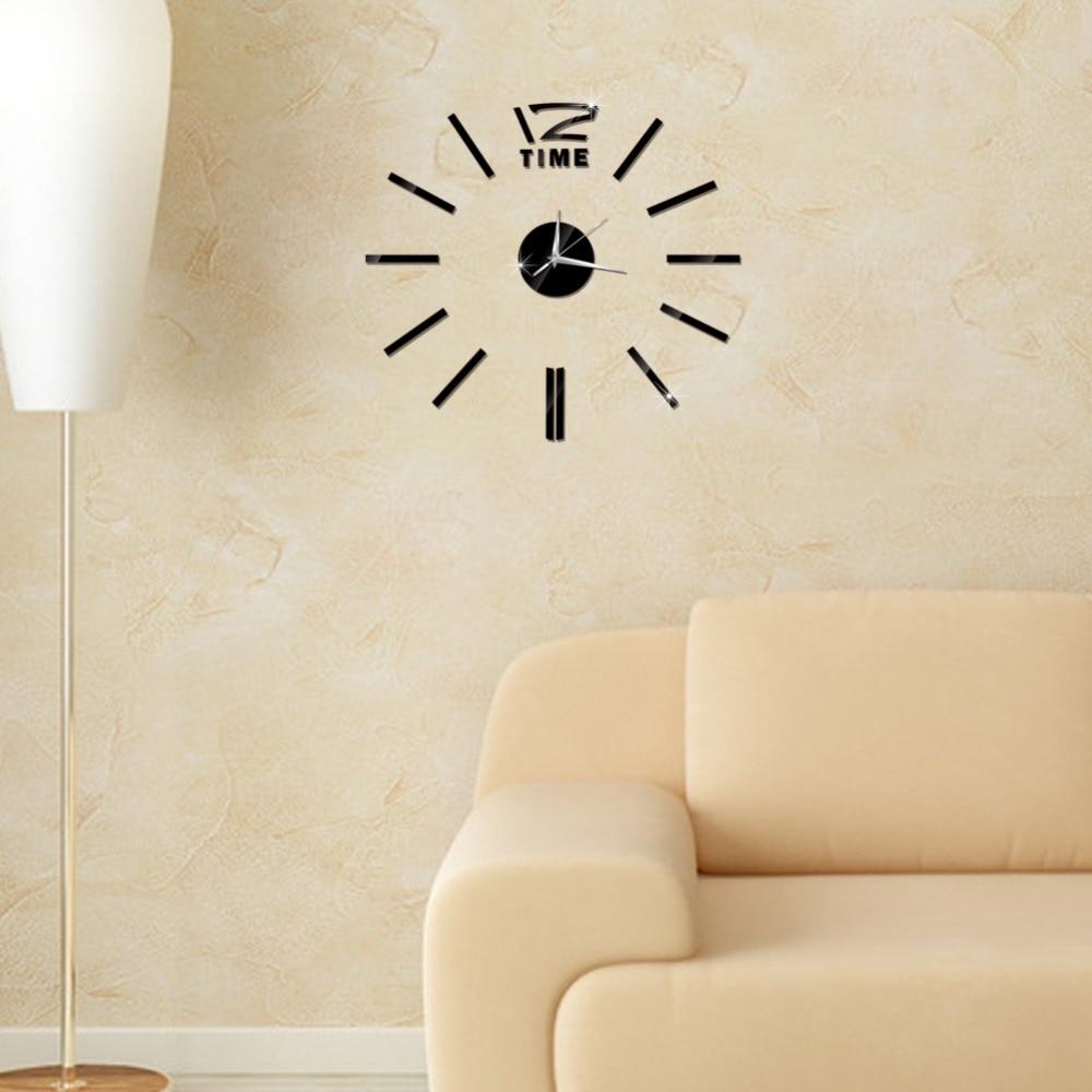 3D Wall Clock Mirror Wall Stickers Fashion Living Room Quartz Watch DIY Home Decoration Clocks Sticker reloj de pared 15