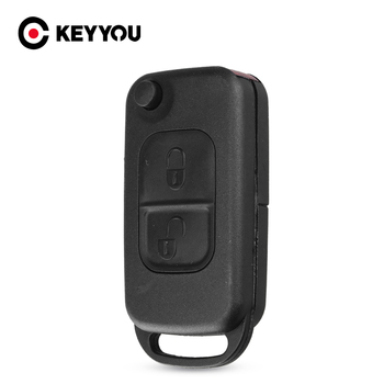 KEYYOU For Benz Key Shell Flip Folding For Mercedes Benz W168 W124 W202 W210 W211 W203 Remote Car Key Case Fob Replacement Cover image