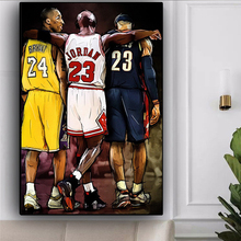 Kobe Bryant LeBron James Basketball Star Oil Canvas Painting Scandinavian Cuadro Wall Art Pictures Print Posters for Living Room