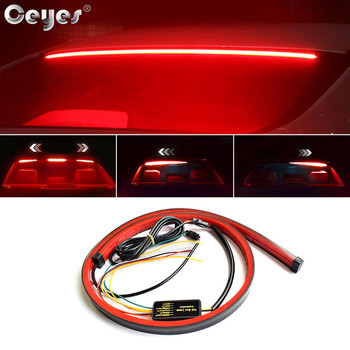 Ceyes 100cm Car Styling High Rear Additional Stop Lights With Turn Signal Running Light Unverisal Auto Brake Flexible LED Strips