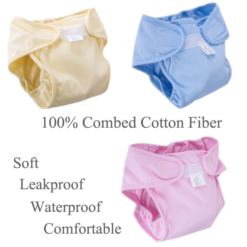 Brand Leakage Baby Every Diaper Soft Adjustable Cloth Waterproof Washable Reusable Nappies 1pc Microfiber