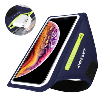 2 Pcs Running Bags Mobile Phone Holder Case Sport Armbands For Airpods Pro iPhone 11 XS Max Samsung Xiaomi Zipper Bag Arm Band