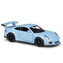 цена на Welly 1:36 Original box 2016 911 GT3 RS Blue Coupe Black Pull Back Car Diecast Car Model Toy Vehicle Car Model Models Kids Car