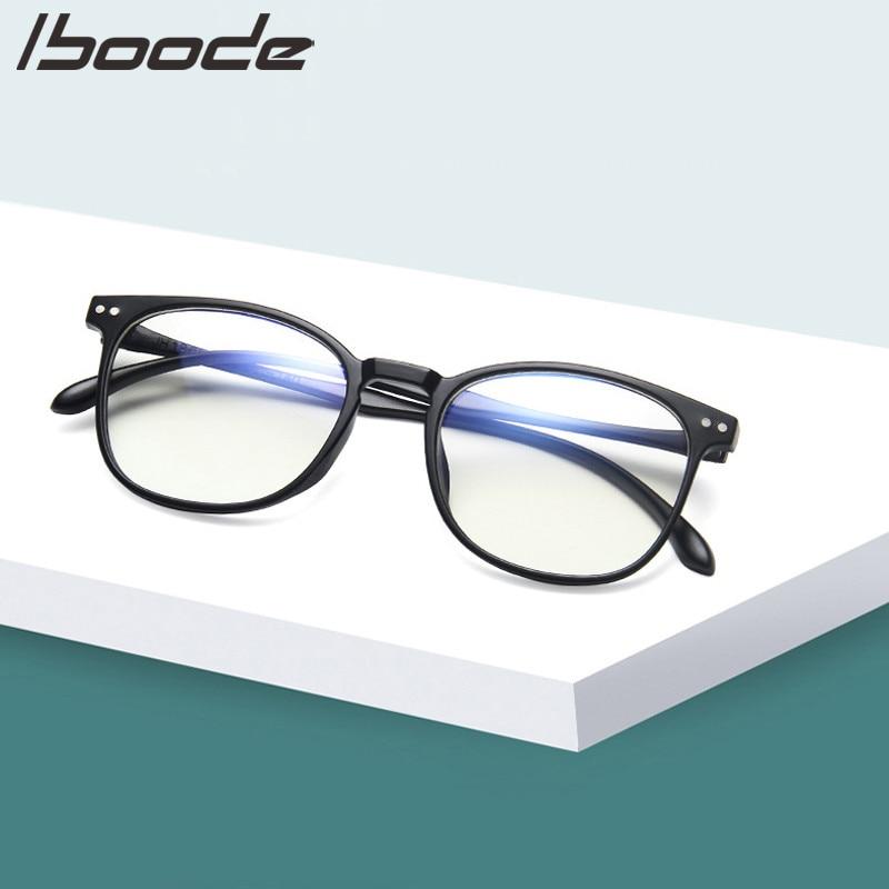 IBOODE Women Anti Blue Rays Glasses Men's Computer Eyeglasses Blue Light Coating Gaming Working Glasses Protection Eyewear
