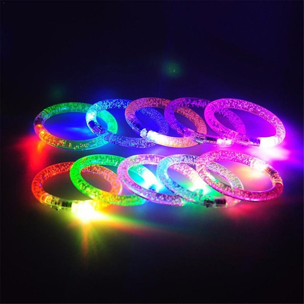 Led piscando pulseira ilumine up acrílico pulseira festa barra chiristmas luminoso pulseira brinquedos para crianças