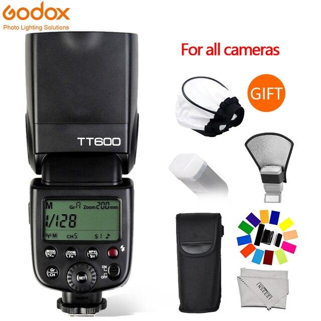 Godox TT600 GN60 Flaş Işığı Master Slave Speedlite 2.4G Kablosuz Sistem Canon Nikon Pentax Olympus için Fuji DSLR Kamera