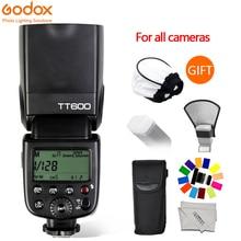 Godox tt600 gn60 플래시 라이트 마스터 슬레이브 speedlite 2.4g 무선 시스템 캐논 니콘 pentax 올림푸스 후지 dslr 카메라