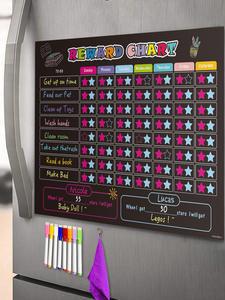 Calendar Chore Chart Refrigerator Chalkboard Daily-Planner Magnetic Star Responsibility