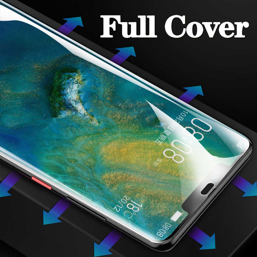 9D Anti Gores untuk Huawei P Smart Z Y6 Y9 2019 Pelindung Layar Y5 Y9 Y7 2019 Y6 2018 Nova 3 3i Penutup Penuh Film Pelindung 9
