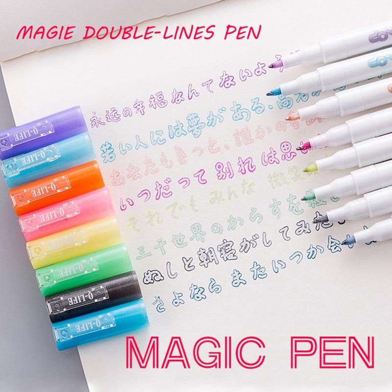 Andstal çift hatları sanat Markers kalem Out hattı kalem scrapbooking kalemler ince Liner Marker Fineliner kaligrafi yazı kalem rengi