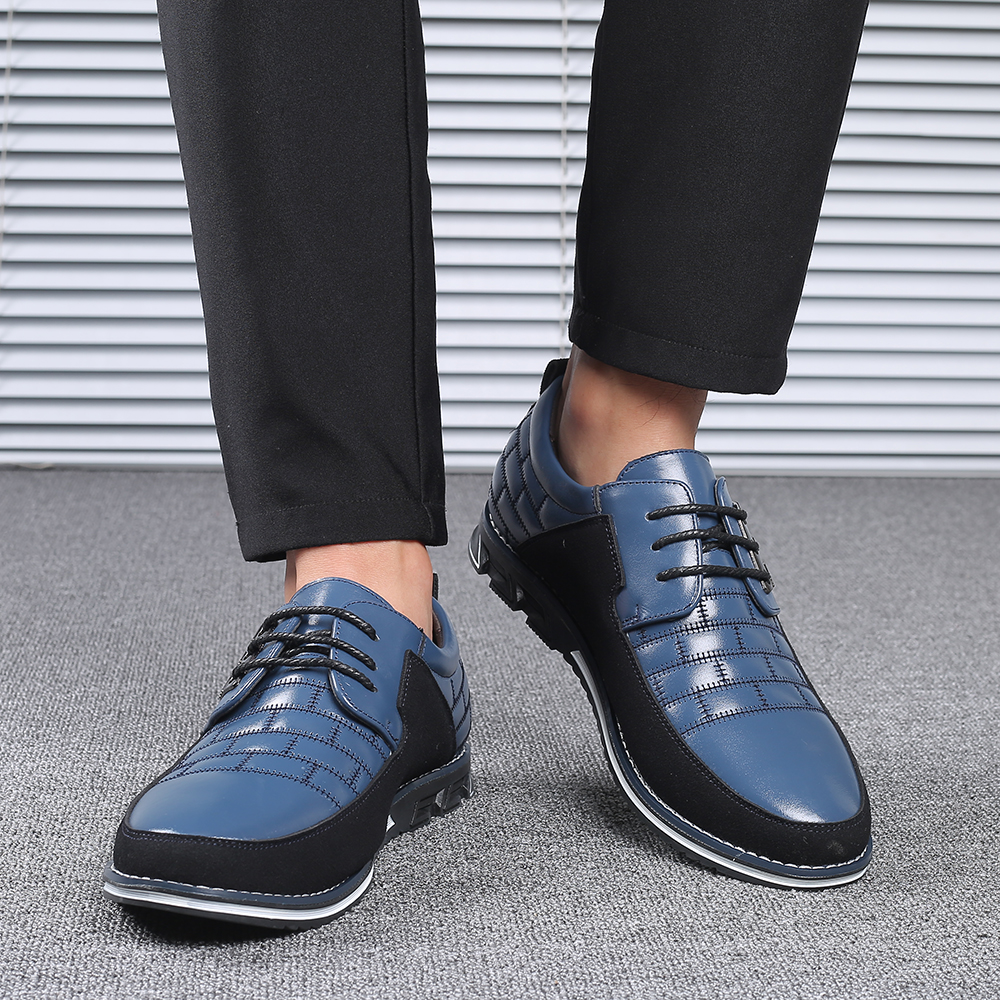 H57e8de3a6cd4470cb0a838b09b86f4deZ 2019 New Big Size 38-48 Oxfords Leather Men Shoes Fashion Casual Slip On Formal Business Wedding Dress Shoes Men Drop Shipping