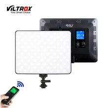 Luz de led para estúdio de vídeo viltrox, lâmpada regulável de bi cores para foto e tiro, sem fio VL 200T 30w youtube ao vivo