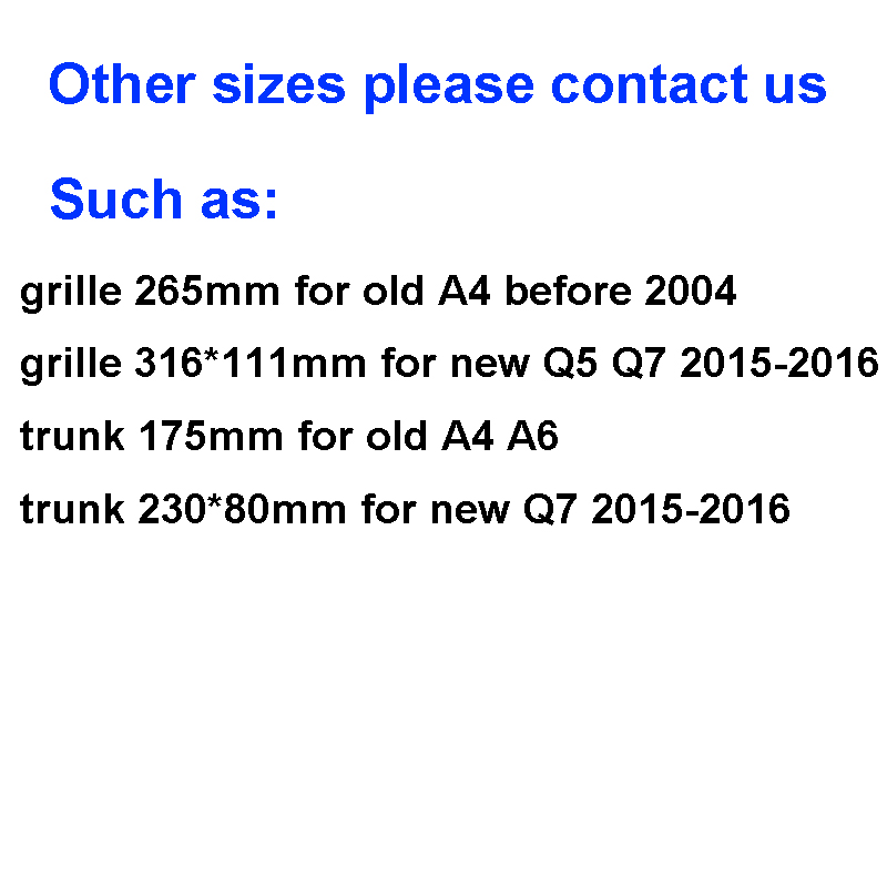 Image 4 - Glossy Black Emblem Logo for Audi A3 A4 A4L A6L TT Q3 Q5 Q7 A5 A7 RS3 RS4 RS5 RS6 Front Middle Rings Grille Badge Trunk Sticker-in Car Stickers from Automobiles & Motorcycles