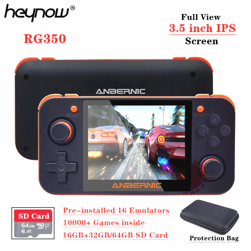 HEYNOW Game-Console 16-Emulator Linux-System Ips-Screen Retro Handheld Rg 350 10000 32g/64g-Card title=