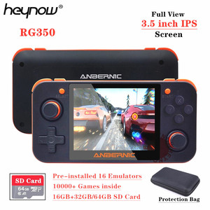 HEYNOW RG350 Linux System Retro Game Console 3.5inch IPS Screen RG 350 Handheld Game Player 32G/64G Card 10000+ Game 16 Emulator(China)
