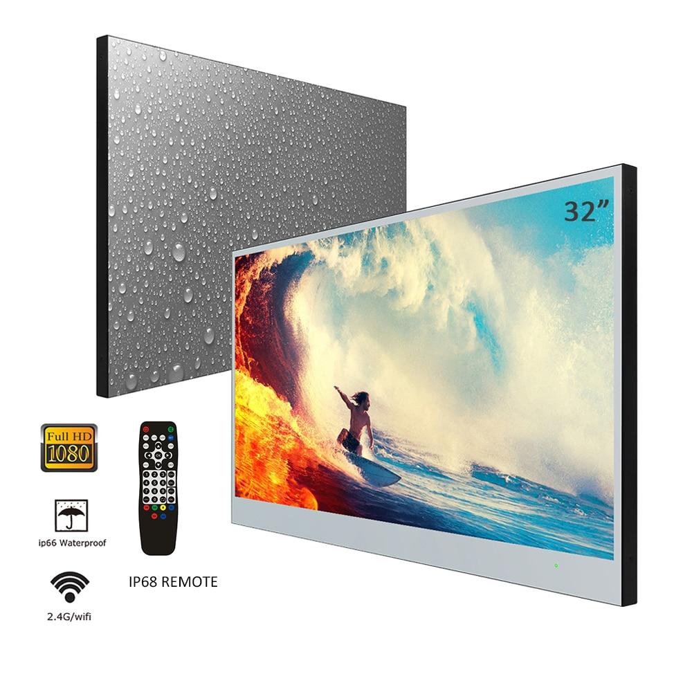 Souria velasting 32 polegada tela grande completa hd android 7.1 inteligente banheiro hotel publicidade led tv ip66 à prova dwaterproof água