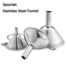 Funnels Kitchen-Tools Integrated-Food-Dispenser Stainless-Steel Canning Mini for 3pcs/Set