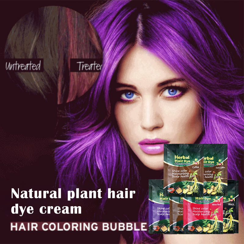 Instant Herbal Hair Coloring Shampoo