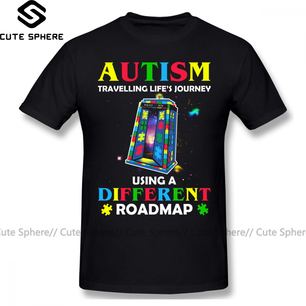 Autism T Shirt Autism Shirt Traveling Life S Journey Using A Different Roadmap T-Shirt Short Sleeve Fashion Tee Shirt Tshirt