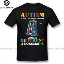 Autism T Shirt Autism Shirt Traveling Life S Journey Using A Different Roadmap T-Shirt Short Sleeve Fashion Tee Shirt Tshirt