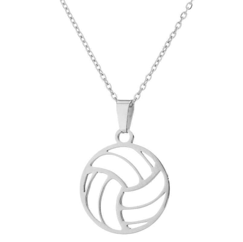 Kepribadian Baru Stainless Steel Voli Pantai Liontin Kalung untuk Wanita Laporan Olahraga Pecinta Perhiasan Hadiah