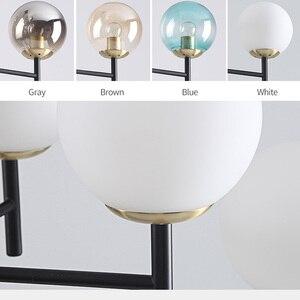 Image 5 - Modern Nordic Chandelier Lighting 4 Color Lights LED Edison 6 Lights Chandeliers Indoor Light Fixtures Bulbs Lamp AC110 220V New