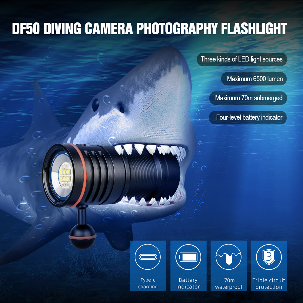 trustfire df50 video lanterna mergulho 6500 01