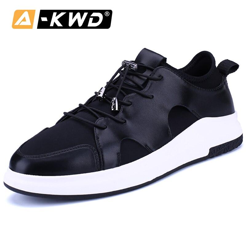 2019 sommer Schuhe Männer Trainer Aufzug Schuhe für Männer Mokasyny Meskie Mode Schuhe männer Seakers Koreanische Slip-auf flache Schuhe Männer