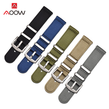 NATO Nylon Strap 18mm 20mm 22mm 24mm for Samsung Galaxy Watch Active2 Gear S2 S3 Huawei GT 2 Amazfit BIP Canvas Band Bracelet strap for samsung galaxy watch active 42 46 s3 s2 amazfit 2s 1 pace bip huawei watch gt 2 pro ticwatch e 1 pro nylon band 20mm