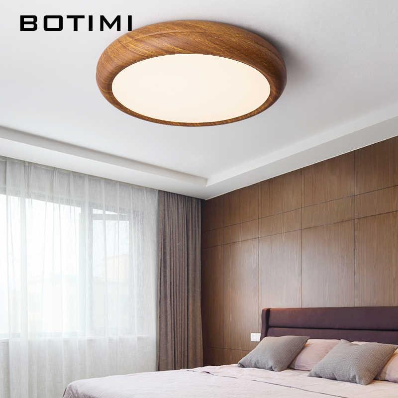 Bosérie luz de teto redondo led, decoração de quarto chinês, madeira, pintada, metálico, iluminação para sala de estudo