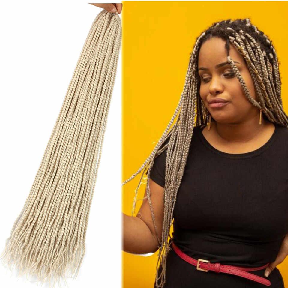 Aiyee18 ''Омбре коричневый Сенегальский твист вязание крючком Твист косичка 30 прядей за штуку Гавана Mambo твист крючком косичка волос Синтетический