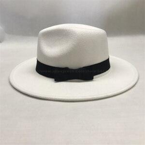MJ Michael Jackson Billie Jean chapeau dangereux classique Fedora blanc laine chapeaux casquette fête Costume accessoire #03FZGSD0201