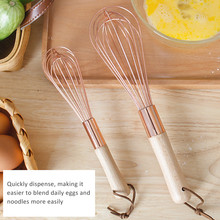 Neue Edelstahl Schneebesen Schneebesen Rose Gold Manuelle Schneebesen Milch Creme Eier Lebensmittel Mixer Mixer Küche Utensilien Werkzeuge