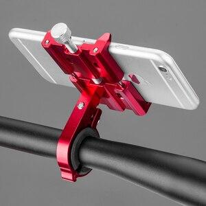 Image 4 - ROCKBROS Universal Aluminium Bike Ständer Halter Halterung Einstellbar Fahrrad Lenker Halterung Für 3,5 6,2 inch Smartphone