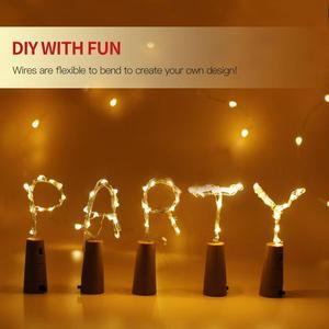 Image 3 - Rượu Chuỗi Đèn Cổ Tích Ánh Sáng Nút Chai Đèn Dây Đồng Dây LED Vòng Hoa Đèn Trang Trí Đám Cưới Tiệc Lễ Hội Giáng Sinh