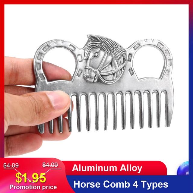 """Lixada koń grzebień ze stopu aluminium urządzenia do oczyszczania koni grzywa ogon ciągnięcie grzebienie sprzęt pielęgnacyjny akcesoria do pielęgnacji koni 3.2 6.5"""""""