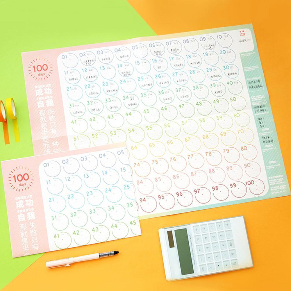 Dropshipping 100Days Countdown Calendar Learning Schedule Periodic Project Countdown Planner Svelte Kawaii Examination
