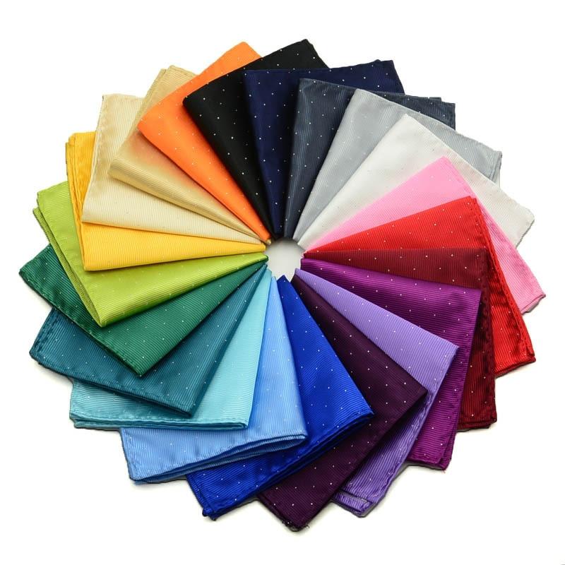 Brand Men's New Handkerchief Polka Dot Hankies Wedding Party Polyester Printed Hanky Business Pocket Square Chest Towel 22x22cm