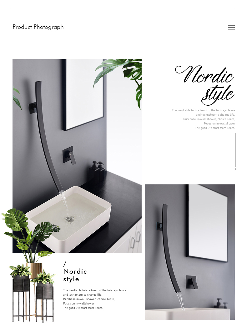 H57eac5fe18dd4bcca844e81ecc6a9810d Rozin Wall Mounted 70cm Spout Waterfall Basin Faucet Single Handle Chrome Bathroom Mixer Tap Concealed Basin Sink Torneira